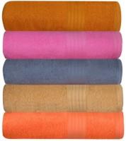 GRJ INDIA Cotton Bath Towel Set Of 5 Bath Towels, Multicolor - BTWEDP4MZXWBRSYS