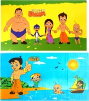 Chhota Bheem Cotton Bath Towel Set Chota Bheem Bath Towel Combo Set Of 2 Pcs, Yellow