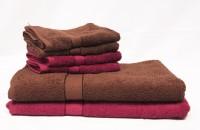 The Home Story Cotton Bath & Hand Towel Set 2 Bath Towels 30x60 Inches, 4 Hand Towels 16x24 Inches., Brown, Maroon