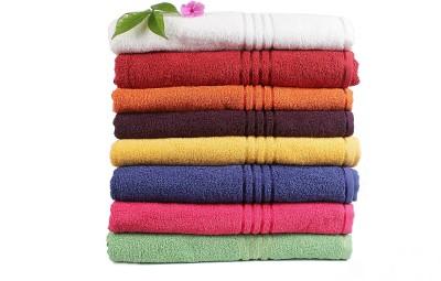 Trident Everyday Cotton Bath Towel Set 8 Bath Towels, Multicolor