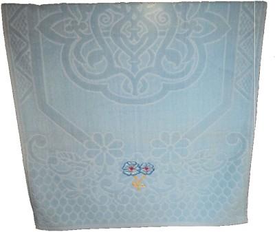 Amita Home Furnishing Embroided Cotton Bath Towel 1 Bath Towel, Blue