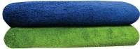 YNA Solid Bath Collection Cotton Bath Towel (2 Bath Towel, Green)