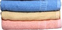 Khushal Cotton Bath, Hand & Face Towel Set 3 Bath Towel, Multicolor