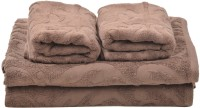 Homeway Cotton Bath & Hand Towel Set Bath & Hand Towel Set, Brown