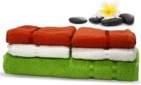 Story@home Cotton Bath & Hand Towel Set 2 Pc Hand Towel + 2 Pc Hand Towel + 1 Pc Bath Towel, Orange
