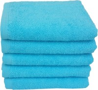 Divine Overseas Cotton Hand Towel Set 5 Pieces Premium Hand Towel, Blue
