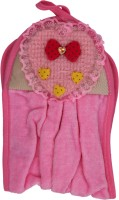 Belle Maison Heart Shape Microfiber Hand Towel (Hand Towel, Pink)