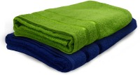 Story @ Home Cotton Bath Towel 2 Pc Bath Towel, Green, Dark Blue