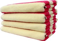 Mandhania Cotton Set Of Towels 4 Bath Towels, Pink