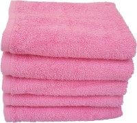 Divine Overseas Cotton Hand Towel Set 5 Pieces Premium Hand Towel, Pink