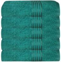GRJ INDIA Cotton Bath Towel Set Of 5 Bath Towels, Green