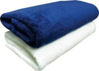 YNA Solid Bath Collection Cotton Bath Towel 2 Bath Towel, White