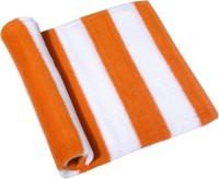 Skumars Love Touch Knitted Cotton Bath Towel 1 Bath Towel, White, Orange