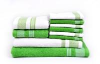 RR Textile House Cotton Bath Towel 1 Bath Towel, 1 Ladies Towel, 2 Hand Towel, 6 Face Towel, Green