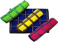 Elegance Multi Design Cotton Hand Towel Set Of 4 Hand Towel, Multicolor
