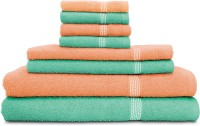 Swiss Republic Cotton Bath, Hand & Face Towel Set (2 Bath Towels, 2 Hand Towels, 4 Face Towels, Light Green, Light Pink)