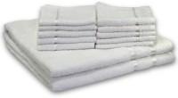 Story@Home Cotton Bath & Face Towel Set 2 Bath Towel And 10 Face Towel, White