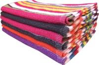 Xy Decor Cotton Hand Towel Set Of 6, Multicolour