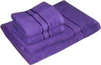 Satcap Cotton Set Of Towels 1 Men Bath Towel, 1 Women Bath Towel, 2 Hand Towels, Purple