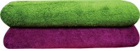 YNA Solid Bath Collection Cotton Bath Towel (2 Bath Towel, Purple) - BTWE68KQGPSXZCB2