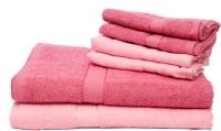 The Home Story Cotton Bath & Hand Towel Set 2 Bath Towels 30x60 Inches, 4 Hand Towels 16x24 Inches., Pink