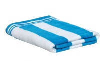 Earth Ro System Cotton Bath Towel 1 Bath Towel, White, Blue
