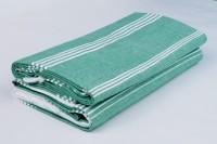 Sathya Turkish Cotton Bath Towel (2 Bath Towel, Green, White)