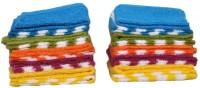 DreamsHomes Cotton Bath Towel Set 20 Face Towel, Multicolor