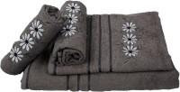 Sassoon Cotton Bath & Hand Towel Set 2 Hand Towels, 1 Male Bath Towel, 1 Female Bath Towel, Grey