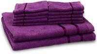 Story@home Cotton Bath & Hand Towel Set 2 Bath Towel And 10 Face Towel, Purple