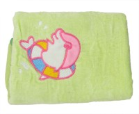 Belle Maison Cotton Baby Towel (Kids Bath Towel, Green) - BTWE7FGEY3KXUDSE