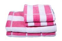 Skumars Love Touch Cotton Set Of Towels, Bath Towel, Hand Towel 2 Bath Towels & 2 Hand Towels, Pink