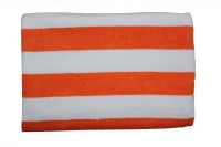 Kaashi Supreme 100% Cotton Bath Towel (Bath Towel, White, Orange)
