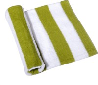 Skumars Love Touch Knitted Cotton Bath Towel 1 Bath Towel, White, Green