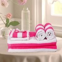 Cortina Cotton Bath, Hand & Face Towel Set 2PC Hand Towel Set, 2PC Bath Towel Set, 2PC Face Towel Set, Pink