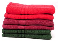 The Home Story Red, Maroon, Green Set Of 6 Napkins