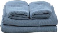 Homeway Cotton Bath & Hand Towel Set Bath & Hand Towel Set, Blue