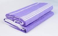 Sathya Turkish Cotton Bath Towel (2 Bath Towel, Lavender, White)