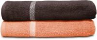 Swiss Republic Cotton Bath Towel (2 Bath Towels, Dark Grey, Light Pink)