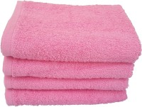 Divine Overseas Cotton Hand Towel Set 4 Pieces Premium Hand Towel, Pink