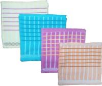 Mikado Face Towels Cotton Face Towel 12 Face Towels, 3 Pieces Of Each Colour, Multicolor
