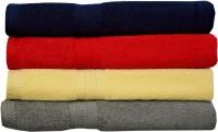 Rakshan Cotton Bath Towel Set (Pack Of Towel 4, Blue, Red, Cream, Grey)
