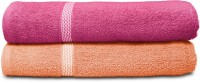 Swiss Republic Cotton Bath Towel (2 Bath Towels, Dark Pink, Light Pink)