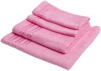 Konark Cotton Set Of Towels Large Towel, MediumTowel, 2 Hand Towels, Pink