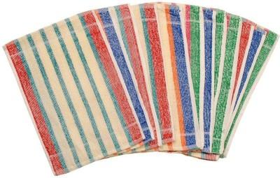 ShopSince Cotton Hand Towel ShopSince Blue & Red Cotton Hand Towel Set Of 6, Multicolor
