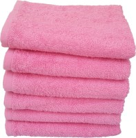 Divine Overseas Cotton Hand Towel Set 6 Pieces Premium Hand Towel, Pink