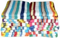 ShopSince Cotton Hand Towel Multicolour Cotton Hand Towel Set - Set Of 10, Multicolor