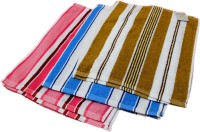 Krishna Cotton Hand Towel Set (Set Of 6 Multicolor Hand Towels,Three Pairs Of Each Color And Design)