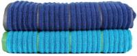 Casa Copenhagen Solid Ribbed Zero Twist Hwain Ocean & Deep Sapphire Bath Towel Set (2 Bath Towel, Blue)