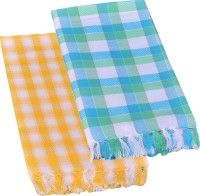 Suam Cotton Bath Towel Pack Of 2 Bath Towel, Yellow, Blue